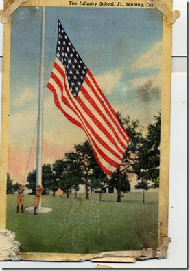 7 Parchute Training Flag Postcard