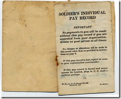 9 Parachute pay book interior flap 1